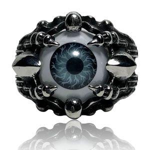 Accessories - Mechanical Robotic Grim Reaper Gray Evil Eye Ring